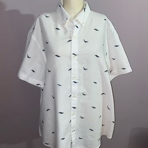 Bonobos white button down cotton shirt